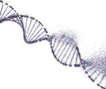 Colorful DNA Molecule. Structu...