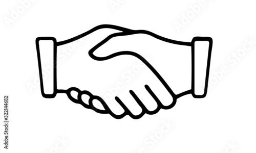 Fototapeta cooperation shaking hands icon obraz