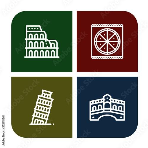 Cuadros en Lienzo italy simple icons set