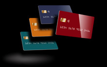 Four Debit Cards Or Credit Car...