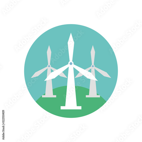 Fototapeta windmill energy environmental isolated icon obraz