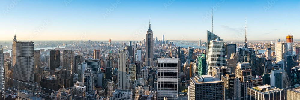 Fototapeta New York City skyline with Empire State Building