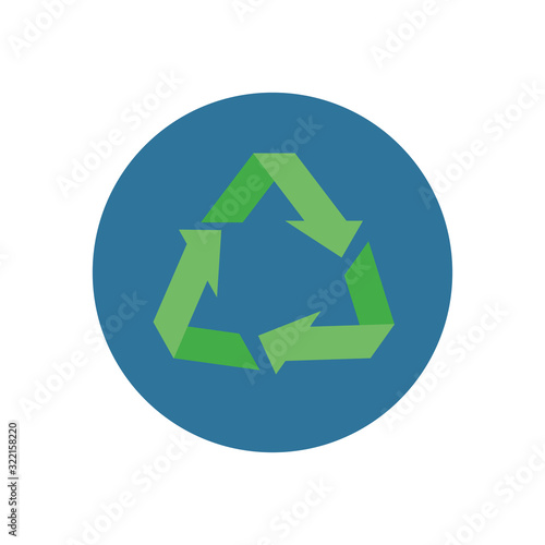 Fototapeta arrows recycle symbol ecology icon obraz