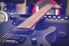 Electric Guitar Wallpaper. Blu...