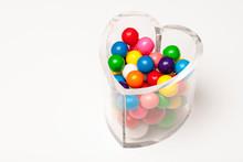 Clear Heart-shaped Candy Jar F...