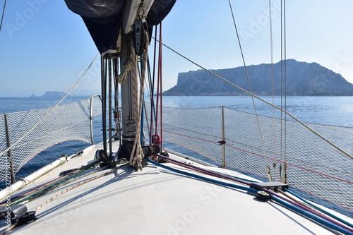 Particolare di una barca a vela. Sicilia Wallpaper Mural