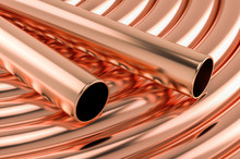 Copper Tubing Coils Background...