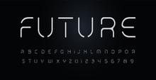 Future Stencil Alphabet. Thin ...