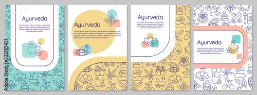 Photo Ayurveda brochure template