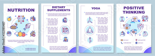 Stampa su Tela Healthy lifestyle brochure template