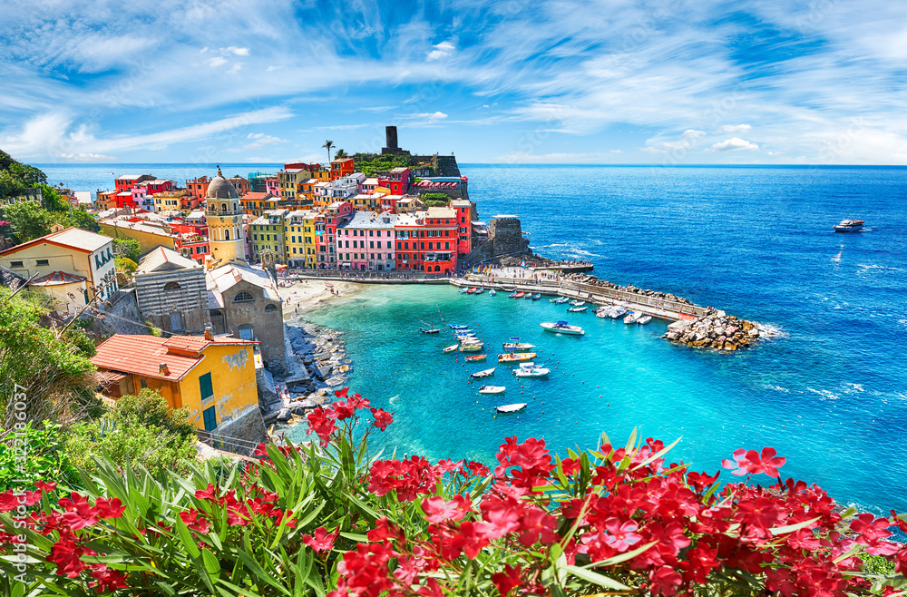 Fototapeta Famous city of Vernazza in Italy during summer