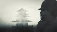 Samurai Bushido Warrior Wearin...