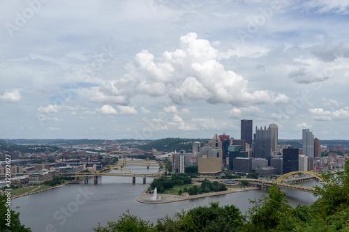 CONFLUENCE - Monongahela River - Allegheny River - Ohio River Canvas Print