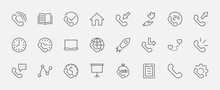 Set Of Phone Vector Line Icons...