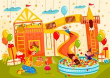 Children Birthday Party At Pla...