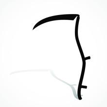 Silhouette Scythe With Shadow/