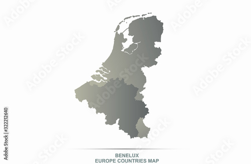 benelux countries map Canvas Print