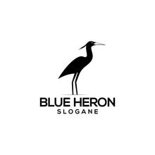 Blue Heron Logo Concept Vector