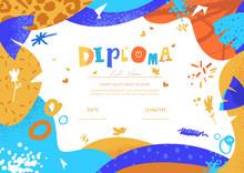 Modern Colorful Diploma Templa...