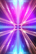 canvas print picture - Ultraviolet abstract light. Diode tape, light line. Violet and pink gradient. Modern background, neon light. Empty stage, spotlights, neon. Abstract light.
