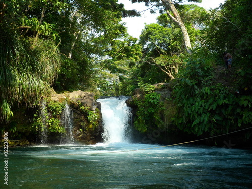view of small waterfall, in La Gloria, Veracruz Canvas Print