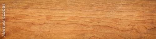 Fototapeta Cherry wood natural texture. Extra long cherry wood texture background. Texture element. Background element. obraz