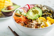 Vegan Poke Bowl With Avocado, ...