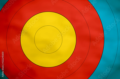 Photo Empty and clean paper target for shooting