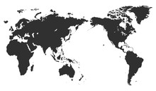 World Map Isolated On White Ba...