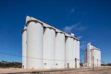 Grain Silos Situated In The Wheat Belt Region Of South Australia