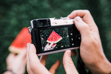 Taking A Photo Of A Watermelon...