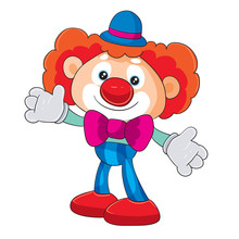 Toy Clown Stands In Full Growt...