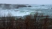 Observing Niagara Falls Behind...