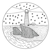 Figure Lighthouse On A Cliff O...