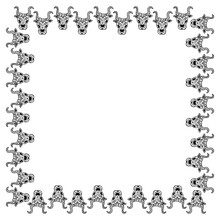Isolated Black And White Squar...