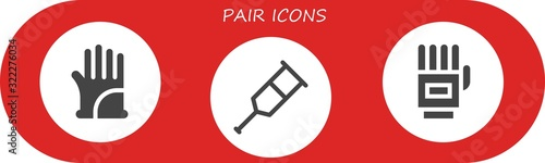 Modern Simple Set of pair Vector filled Icons Canvas Print