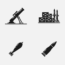 Set Of Mortar, Missiles, Bombs...