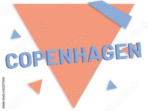 Photo web Label Sticker Copenhagen