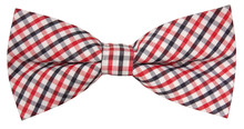 Lovely Plaid Bow Tie Isolated ...