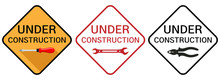 Under Construction Sign. Under...