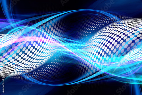 Website technology and futuristic concept. Awesome internet waves dots background. #322283638