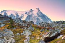 The Alps In Autumn. Aiguille D...