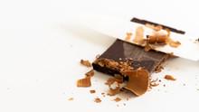 Chocolate Bar Chopped With Kni...
