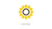 Sunflower Logo. Emblem For Com...
