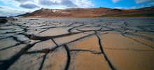 Dried Land In The Desert. Crac...