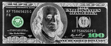 Banknote One Hundred US Dollar...