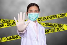 Asian Female Doctor Wear A Med...