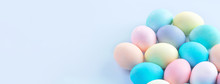 Colorful Easter Eggs Dyed By C...