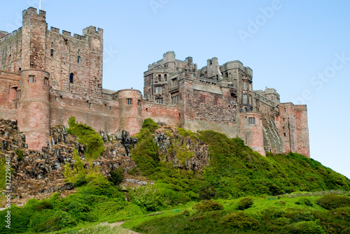 Bamburgh Castle an historical castle location in the north of england dating bac Wallpaper Mural