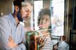 Leinwanddruck Bild - Technology software programming develop idea people concept